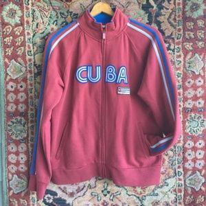 Cuba Varsity Sport Street Style Track Jacket